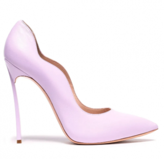 Casadei Lilac Nappa Leather Blade Pumps