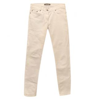 Roberto Cavalli off white slightly stretch jeans