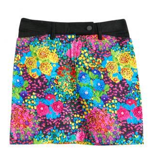 Balenciaga Floral Print Mini Skirt