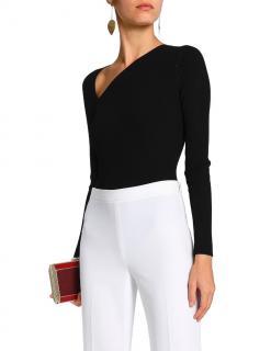 Cushnie et Ochs Black Vivian Thing Ribbed Bodysuit