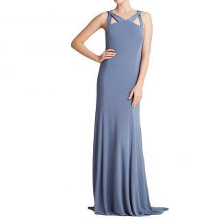 Vera Wang Blue jersey gown