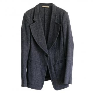 Balenciaga Mini Herringbone Unlined Wool Jacket