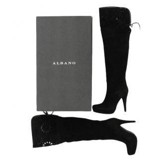Albano OTK black suede boots