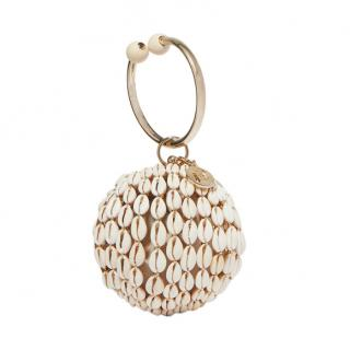 Rosantica Lira gold-tone bead and shell tote