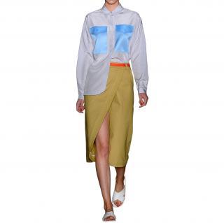 Ostwald Helgason Military Asymmetric Midi Skirt