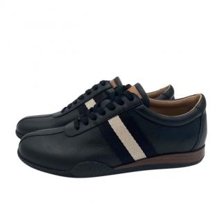 Bally Black Leather Low-Top Sneakers