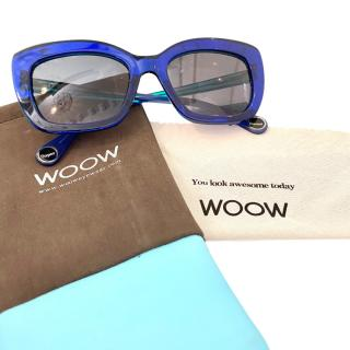 Woow 'Be Happy' Blue Sunglasses