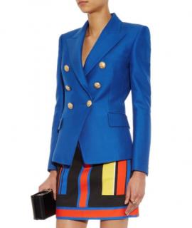 Balmain Cobalt Blue Double Breasted Blazer