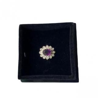 Bespoke Vintage Amethyst & Diamond Ring