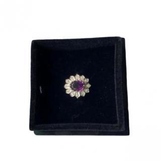 Bespoke Vintage Amethyst & Diamond Ring