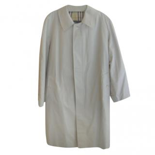 Burberry Nova Check Plaid Men's Trench Coat
