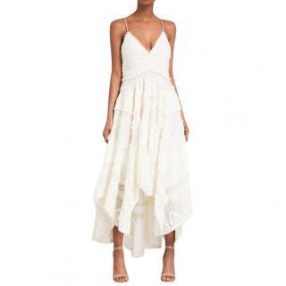 Zimmermann Natural Painted Heart Sun Cotton And Silk-blend Midi Dress