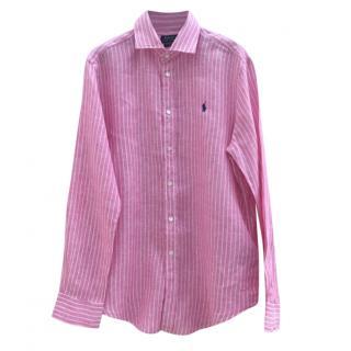 Polo Ralph Pauren Pink & White Striped Shirt