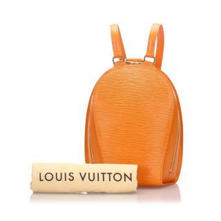 Louis Vuitton Epi Mabillon Orange Backpack