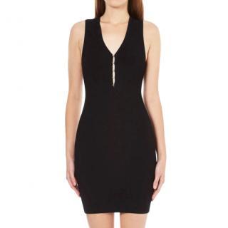 T by Alexander Wang Ribbed Black Mini Dress