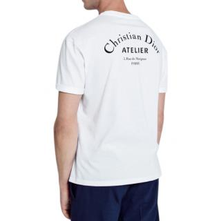 Dior White Cotton 'Christian Dior Atelier' T-Shirt