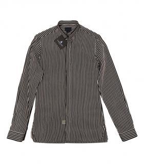 Lanvin Black & White Sheer Striped Shirt
