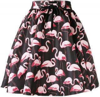 Red Valentino flamingo print skirt