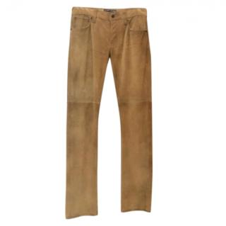 Ralph Lauren Tan Suede Pants
