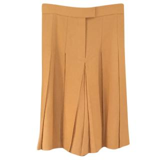 Hermes Beige Pleated Culottes