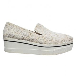 Stella McCartney Lace Embroidered Platform Sneakers