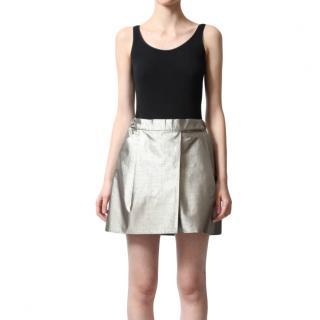 Chloe Metallic SIlk Mini Skirt