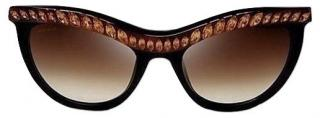 Prada Black Limited Edition Crystal Embellished Sunglasses