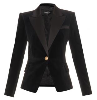 Balmain Velvet Jacket With Single Button