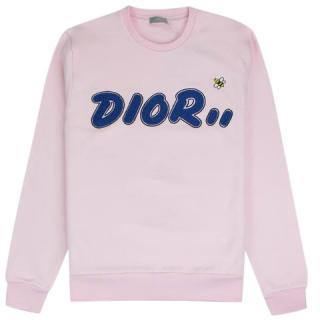 Dior x Kaws Pink Logo Sweatshirt