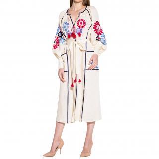March11 Barcelona Midi Dress in Creme