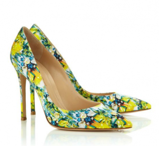Mary Katrantzou x Gianvito Rossi Floral Print Pumps