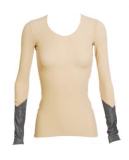 Balenciaga Nude and Silver long sleeved top