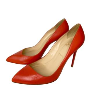 Christian Louboutin Red Leather Pumps