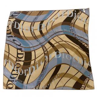 Dior Multi-Print Logo Silk Scarf