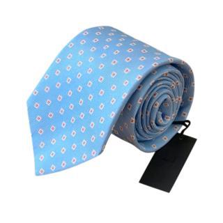 Dunhill light blue silk woven tie