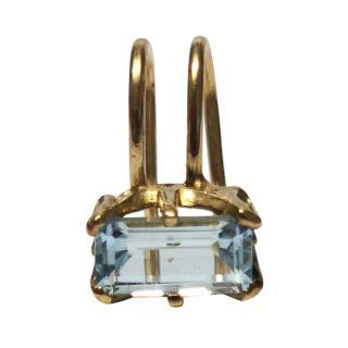 Beatrix Palacious Aquamarine Ear Cuff