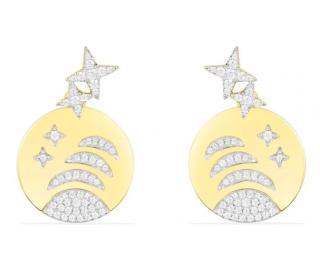 APM Monaco Yellow Silver Stars & Planet Underlobe Earrings