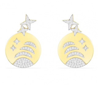 APM Monaco Yellow Silver Stars & Planet Underlobe Earrings
