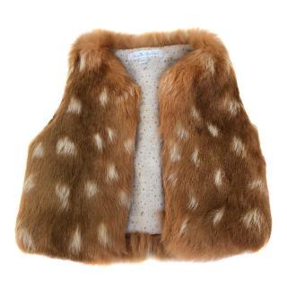 Marie Chantal girl's fur gilet