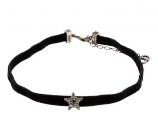 Dior Velvet Crystal Star Choker