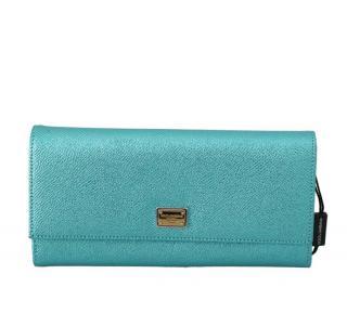Dolce & Gabbana Blue Glitter Continental Wallet