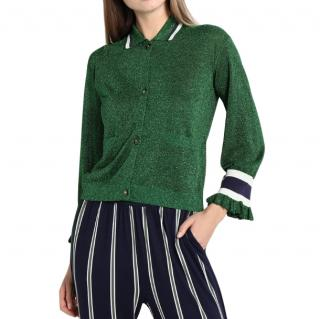 Baum Und Pferdgarten Caresse Knitted Cardigan in Green Sparkle