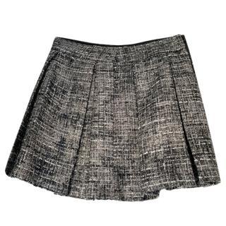 Alice + Olivia Tweed Pleated Mini Skirt