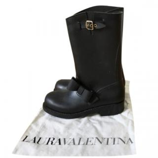 RED Valentino Black Bow Detail Rain Boots
