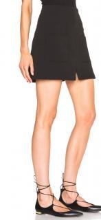 See By Chloe black crepe front pocket mini skirt