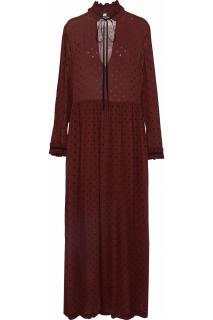Ganni Burgundy Carlton midi maxi dress