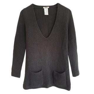 CHloe Alpaca & Wool Black Knit Jumper