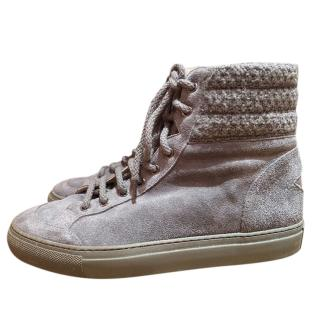 Lorena Antoniazzi grey suede hightop sneakers
