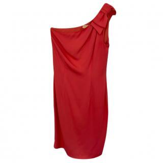 Michael Kors one shoulder silk dress