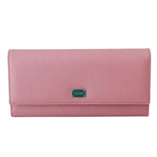 Dolce & Gabbana pale pink bifold clutch wallet